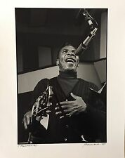 "JIM MARSHALL PHOTOGRAPH - T. BONE WALKER - 16"" X 20"" - SIGNED"