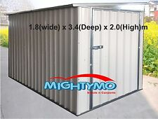 Garden Shed, Steel Shed 1.8x3.4x2m, Storage Shed