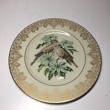 "1990 Lenox Garden Bird Plate Collection Turtle Dove 8-1/2 "" Plate"