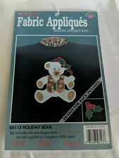 Holiday  Iron On Fabric Appliques No 56113 Holiday Bear.