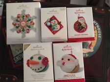Hallmark Keepsake Treat Tree Ornament Lot Of 5 Savory Snowflake Cupcake Season's