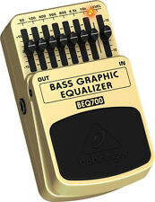 Behringer BEQ700 Ultimate 7-Band Bass Graphic Equalizer Foot Switch Pedal Eq