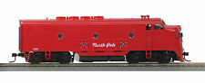 HO MTH Christmas F-3 Non-Powered A-Unit for 2 Rail Track 81-2006-3
