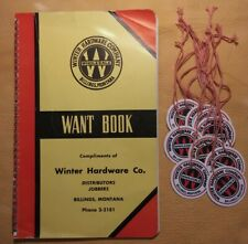 Antique Old Stock Winter Hardware Company Billings Montana Want Book And Tags