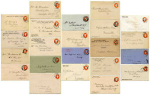 GB QV BOOK POST PRINTED STO+COMMERCIAL STATIONERY +POSTMARKS...Each One Priced