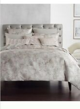 Hotel Collection Speckle Printed KING Duvet Cover & STANDARD Shams Gray - Pink
