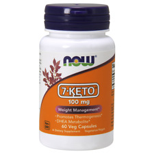 Now  7-KETO 100 mg Weight Management DHEA Metabolite Thermogenesis 60 Capsules