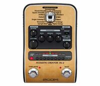 Zoom AC-2 Acoustic Creator, Acoustic DI with Tone Restoration, Tuner, Reverb,...