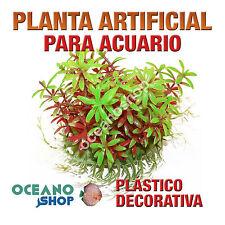 PLANTA ARTIFICIAL 14CM VERDE DECORACIÓN ACUARIO PECERA PLÁSTICO DIÁMETRO D85