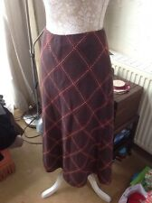 "👀🌼 EASTEX👀 UK 16(EU 44) Nutmeg Brown Skirt - WOOL -LENGTH 32"" BNWT-RRP £69.99"