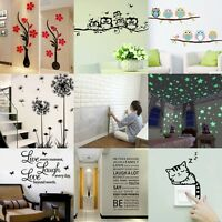 WALL STICKERS! Removable Decal Transfer Interior Home Art Vinyl Decor Quote uk