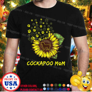 Cockapoo Sunflower Mom Tshirt - Cockapoo Dog Lover Gift Mother's Day Xmas Gift