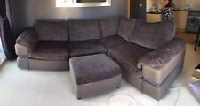Excellent Condition Modern Mid-Grey Corner Sofa bed & storage footstool