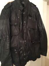 mens firetrap leather jacket