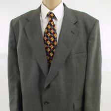 50 R Stafford Gray Plaid Tweed Wool Blend 2 Btn Mens Jacket Sport Coat Blazer