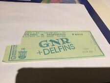 Rare Concert Ticket GNR + DELFINS no Pavilhão Cascais 20 Maio 1989