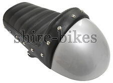 Silver Cafe Racer Seat suitable for use with Monkey Bike Motorcycles