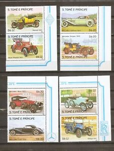 St.Thomas And Prince Islands SC # 709-712 History of the automovil . MNH