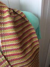 "hand woven Alpaca and linen scarf  one off design ""Neopolitan"""