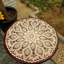 Handmade Crochet Cotton Lace Table Sofa Doilies, Round Table Cloth, 24 inch