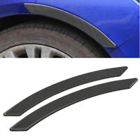 2x Car Arch Wheel Eyebrow Mudguard Sticker Real Carbon Fiber Scratch Resistant
