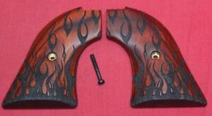 Heritage Arms Rough Rider Wood Grips .22 lr / .22 mag Flames RW