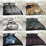 Animal Print Duvet Cover Set with Pillow Cases Quilt Bedding Set Single Double