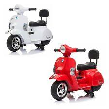 moto giocattolo mini vespa elettrica 6V PIAGGIO PX 150 per bambini bianca rossa