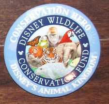 B8 PIN DISNEY BUTTON MACARON BADGE ANIMAL KINGDOM WILDLIFE AND CONSERVATION FUND