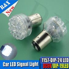 2x 6V 1157 bay15d 24 DIP LED White Car Bulb Light Brake/Stop/Tail/Reverse Lamp X