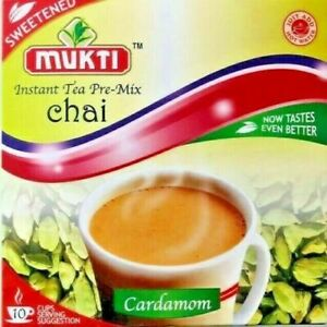 MUKTI CHAI INSTANT TEA PRE- MIX SWEETENED/UNSWEETENED MASALA GINGER CARDAMOM UK