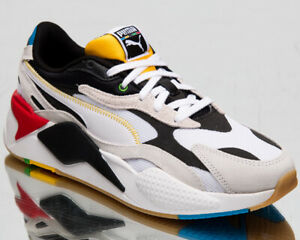 Puma RS-X3 Worldhood Men's White Black Casual Athletic Lifestyle Sneakers Shoes