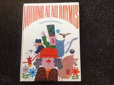 NOTHING AT ALL RHYMES allan stomann Vintage first edition 1969 Hamlyn hardcover