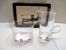 Vintage Handmade Dartington Glass Sugar Bowl & Cream Jug FT147 Unused in Box