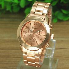 Geneva Luxury Womens Stainless Steel Band Analog Quartz Wrist Watch Dress Watch
