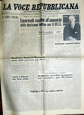 * LA VOCE REPUBBLICANA N°182/ 2/AGO/1961 * Quotidiano del Partito REPUBBLICANO