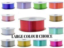 Fabric ribbon satin 40mm Full 25m Roll Buttermilk