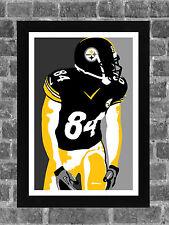 2f3c9e41eb5 Pittsburgh Steelers Antonio Brown Portrait Sports Print Art 11x17