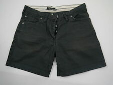 MAISON SCOTCH Da.Jeans-Bermuda Baumwoll-Leinen m.Knöpfen schwarz Gr.26