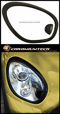 BLACK Headlight Surrounds for 2010 and up BMW MINI Countryman Paceman R60 R61