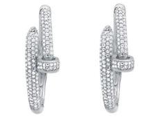 Gold Clip - On Sterling Silver Fine Earrings