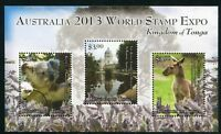 Tonga 2013 Koala Känguru World Stamp EXPO Philatelie Philately Postfrisch MNH