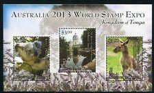 Tonga 2013 Koala Känguru World Stamp EXPO Philatelie Philately Postfrisch MNH