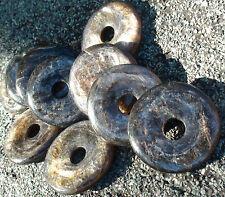 AAA Biotite (Black Mica) Stone of Life Pendant - Root Chakra Healer - Doughnut