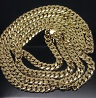"""REAL Solid Box lock 28"""" 10k Yellow Gold Miami Cuban Link Chain 108 Gram,Strong N"""