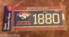 WESTERN BULLDOGS, PLASTIC NOVELTY NUMBER PLATE, OFFICIAL AFL MERCHANDISE