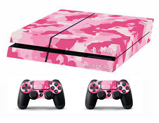 PS4 vinyl Skin Stickers Camouflage in pink for Console & 2 controllers