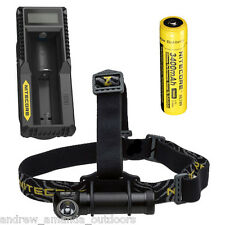 Nitecore HC30 1000 Lumen Headlamp w/NL189 3400mAh Battery & UM10 Charger