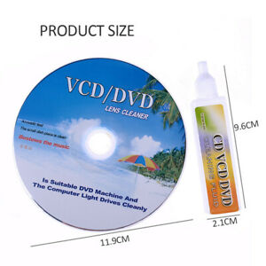 DVD CD Players Lens Cleaner VCD Disc Cleaning Kit Dry&Wet