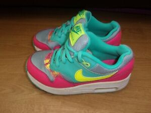 Nike Air Max Pink, Green & Grey girls trainers size 11